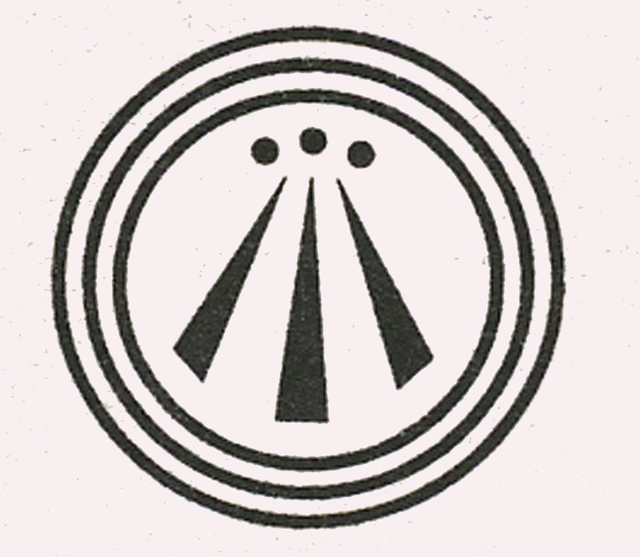 The Awen symbol, representingthe three aspects of Deity in a circle ...